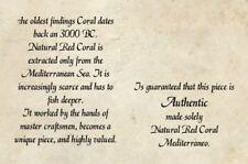 Rare Natural Red Coral Branch 46 cts  Rough Minearls Specim Mediterranean Sea