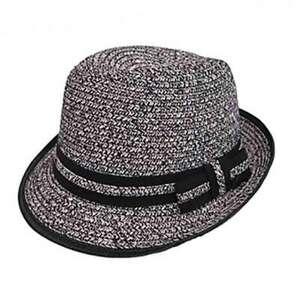 Junior Tweed Straw Fedora Hat - Boardwalk Style Hats