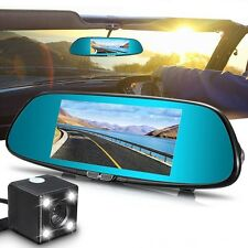 1080P 7'' Car Rearview Mirror Camera Cam Touch Screen DVR HD Video Recorder