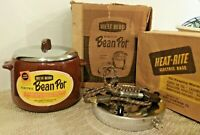 Vintage NOS WESTBEND USA Brown BEAN POT With Electric HEAT-RITE HOT PLATE NEW!