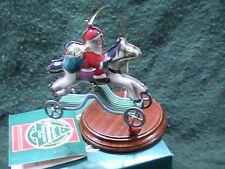 "New 1991 Hallmark Tin Hobby Horse Santa ""Galloping into Christmas"" Ornament"