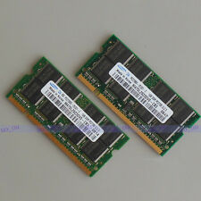 Samsung 2GB 2X1GB DDR 333mhz PC2700 SODIMM laptop Notebook Speicher Low density