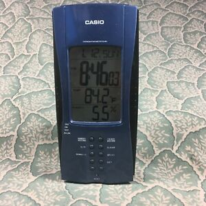 Rare Vintage Casio DQ-961 Thermo & Hygrometer Travel Alarm Clock