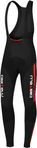 Castelli Sorpasso Men's Cycling Bib Tight Black/Red Size Small SUPER CLEARANCE