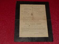 """[VIE MILITAIRE] Faire-Part Deuil """"Père cent"""" 1931 Rare Document! 25e Regiment AD"""