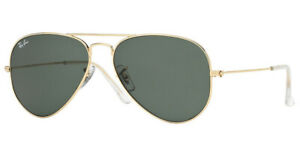 RAY BAN RB3025 W3234 Large Metal Aviator Sunglasses Frame ARISTA GOLD 55mm