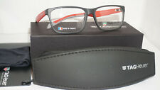 TAG HEUER New Authentic Eyeglasses Black Grey Red 0552 004 57 16 145