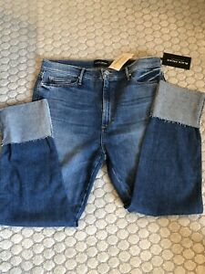 NWT Sundance Catalog Black Orchid Hailee Liquify Americano Cuffed Jeans 32 $198