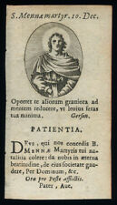 santino incisione 1700 S.MENNA M.