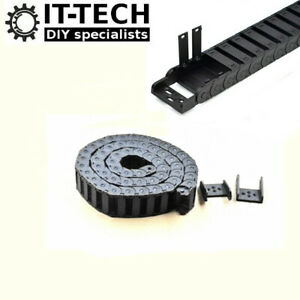 Machinery Cable Drag Chain Wire Carrier CNC 3D Printer 30x15mm Semi Enclosed 1m