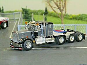 "Dcp Custom gunmetal/black KW W900A 36"" 4 axle heavyhaul tractor new no box 1/64"