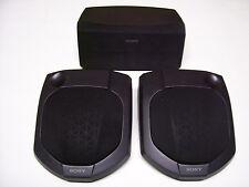 Sony SS-CN101 & SS-SR101 3 Surround Speakers 2 Wall Mount Rear 1 Center Channel