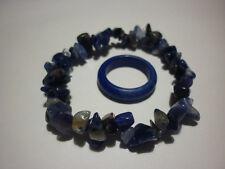cristalloterapia BRACCIALE SODALITE + ANELLO braccialetto cristallo pace yoga