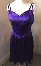 Lanières Violet & Noir Robe soyeux-taille 10/12 Gothique Halloween Emo