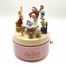 Wooderful Life Disney Alice in Wonderland Wooden Music Go Round Box