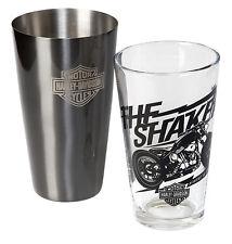 Harley-Davidson® Bar & Shield Boston Shaker & Pint Glass Cocktail Set HDL-18554