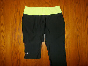 UNDER ARMOUR HEAT GEAR BLACK FITTED CAPRI PANTS WOMENS SMALL EXCELLENT CONDITION
