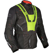 Oxford Ankara Long Waterproof Textile Motorcycle Motorbike Jacket - Black - SALE