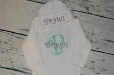 PERSONALIZED  Baby Sleeper Gown and Hat - Curlz Font Baby Newborn Take Home Set
