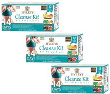 Hyleys Tea 14 Day Cleanse Kit Detoxifiant 6 flavors 42 Tea Bags (3 PACK) 06/2021
