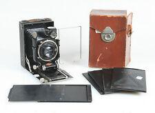 AGFA ISOLAR VINTAGE 1927 - 1935 9 X 12 CAMER W/CASE+5 FILM BACKS