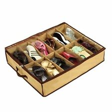 12 Pairs Shoes Storage Organizer Holder Container Under Bed Closet Box Bag US