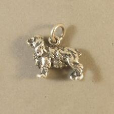 .925 Sterling Silver 3-D COCKER SPANIEL CHARM NEW Dog Springer Pendant 925 DG62