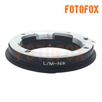 LM-AI Adapter Ring for Leica M Mount Lens to Nikon F Camera D90 D5300 D7000 D4S