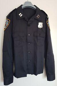 NEU, US POLICE UNIFORM - SHIRT/ HEMD GR: S, M, L, XL, 2XL, COP - Kostüm, Polizei