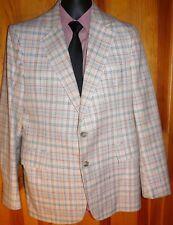Vintage JOHN H. DANIEL Custom Tailored Plaid Blazer Sport Coat ~ Size 40 41 42