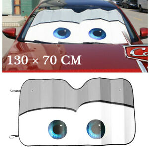 Gray Foldable Sunshade Car UV Protection Front Windshield Sun Visor Accessories
