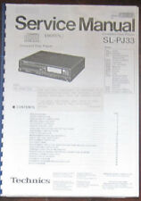 Technics SL-PJ33 CD player service repair workshop manual (SEME photocopy)