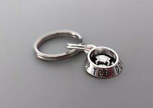 'Top Dog' Dog Cat Collar Charm - Silver Dog Bowl