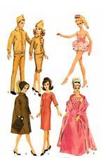 Vintage Barbie Ken doll Clothing PATTERNS 12 outfits Knit Cardigan Skirt Socks