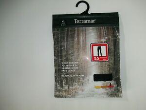 TERRAMAR 3.0 MERINO WOOL BLEND Thermal BASE LAYER Leggings PANTS Mens Sz XL NEW