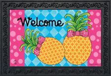 """Pineapple Welcome Spring Doormat Indoor Outdoor 18"""" x 30"""" Briarwood Lane"""