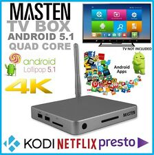 !Masten Android TV Set Top Box Quad Core 1.5GHZ 16GB HD Media Tuner Player HDMI
