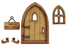 Wooden Fairy Door Sleeping Fairy Door Fairy Window Fairy Sign Fairy Garden Door