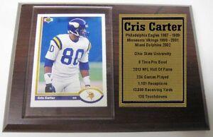 Minnesota Vikings Cris Carter Upper Deck Football Card Plaque
