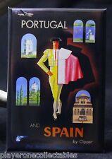 """Spain / Portugal Travel Poster 2"""" X 3"""" Fridge / Locker Magnet. Iberia"""