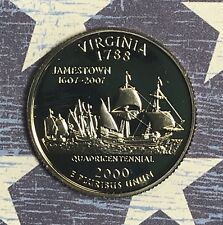 2000-S VIRGINIA STATE QUARTER PROOF. COLLECTOR COIN FOR SET.