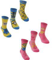 Official DC Comics Crew Socks Kids Infant 3 Pack UK C8-C13 EU 27-32 R523-11