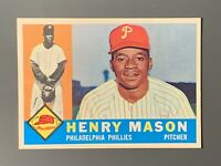 1960 Topps #331 Henry Mason Rookie EXMT/Centered Philadelphia Phillies