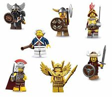 LEGO Minifigures Set of 7 Warriors/Soldiers - Viking+Roman+Dwarf+Hun+MORE