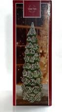 """Hallmark LED Glass Christmas Tree - 12"""" with timer"""