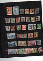 33 timbres de Suisse entre 212 et 245