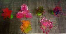 lot de 6 plantes plastique aquarium marin coraux décor couleur envoi gratuit