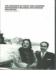 BONHAMS Contents Of Count & Countess Martignone's Properties Silver Catalog 2014