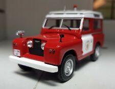 1:43 Scale Diecast Atlas Model Land Rover Santana Series 2 2a 88 SWB Fire Engine