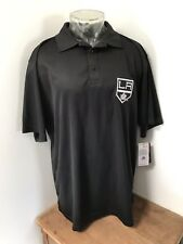 Men's Nwt Majestic Xl Tall Nhl Los Angeles Kings Hockey Polyester Polo Shirt
